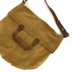 Lucky Brand Leather & Suede Hobo Shoulder Bag